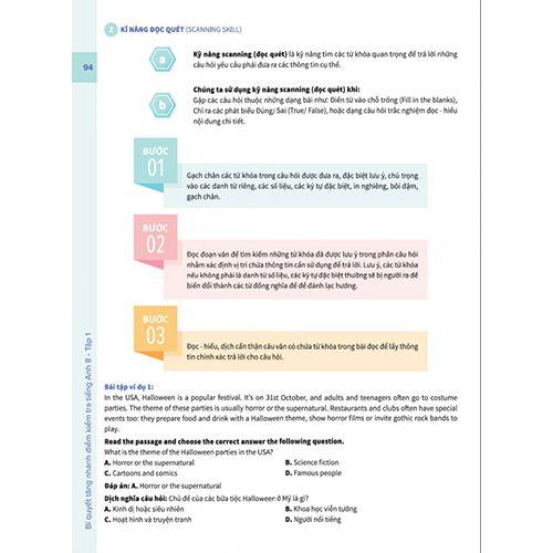 Bí Quyết Tăng Nhanh Điểm Kiểm Tra - Tiếng Anh 8 - Tập 1 - Ảnh 7