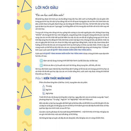 Bí Quyết Tăng Nhanh Điểm Kiểm Tra - Tiếng Anh 8 - Tập 1 - Ảnh 2