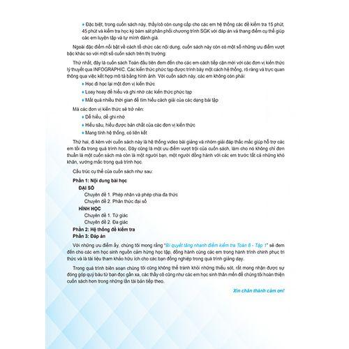 Bí Quyết Tăng Nhanh Điểm Kiểm Tra - Toán 8 - Tập 1 - Ảnh 3