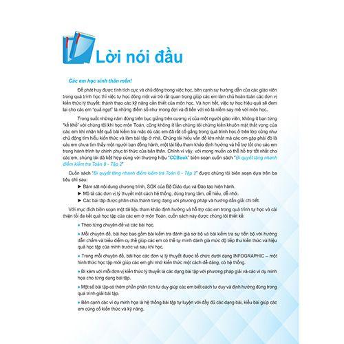 Bí Quyết Tăng Nhanh Điểm Kiểm Tra - Toán 8 - Tập 2 - Ảnh 2