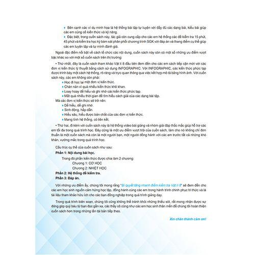 Bí Quyết Tăng Nhanh Điểm Kiểm Tra - Vật Lí 8 - Ảnh 3