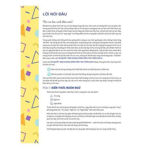 Bí Quyết Tăng Nhanh Điểm Kiểm Tra Tiếng Anh 9 - Tập 1 - Ảnh 3
