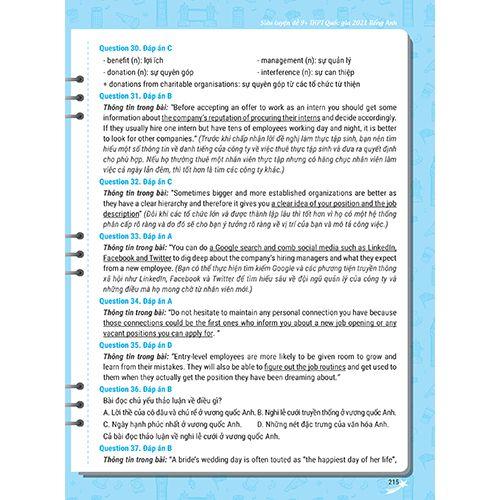 Mega 2021 - Siêu Luyện Đề 9+ THPT Quốc Gia 2021 Môn Tiếng Anh - Ảnh 10