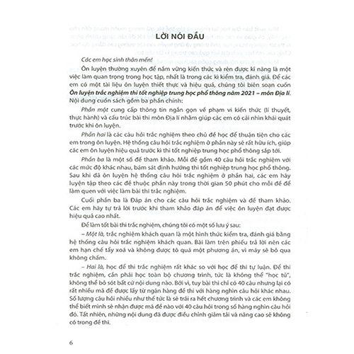 Ôn Luyện Trắc Nghiệm Thi Tốt Nghiệp THPT Năm 2021 Môn Địa Lí - Ảnh 2