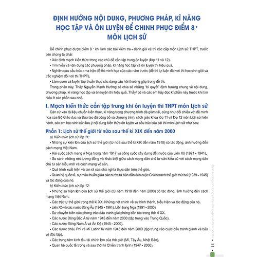 Đột Phá 8+ Môn Lịch Sử (Tái Bản 2020) - Ảnh 3