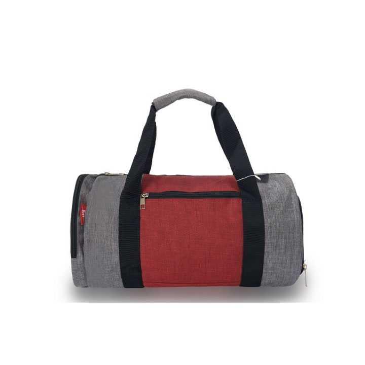 Túi Trống Du Lịch - thể thao, tập Gym Q&A - Xám đỏ