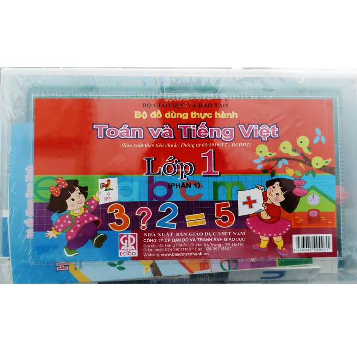 Bộ Đồ Dùng Học Toán Và Tiếng Việt Lớp 1