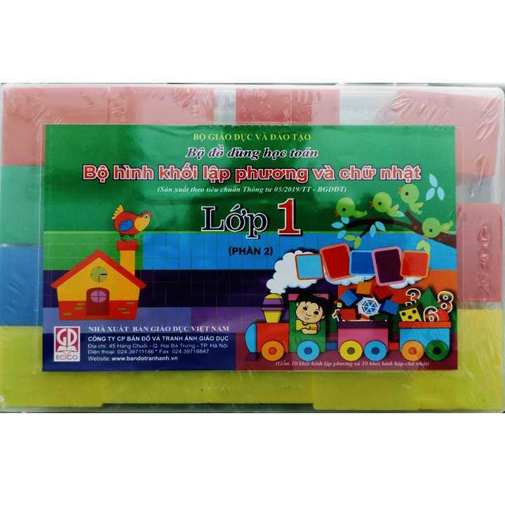 Bộ Đồ Dùng Học Toán Và Tiếng Việt Lớp 1 - Ảnh 1