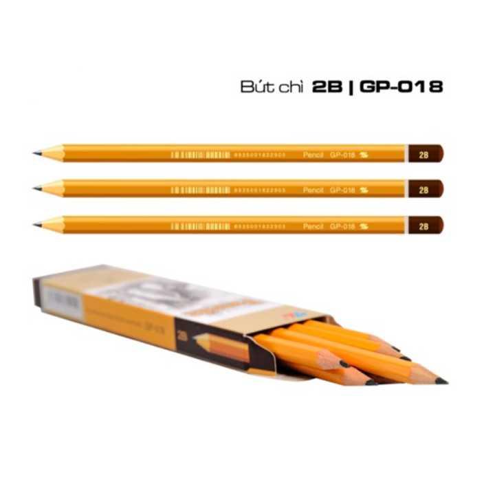 BÚT CHÌ GỖ GP-018 (Hộp 10 Chiếc)