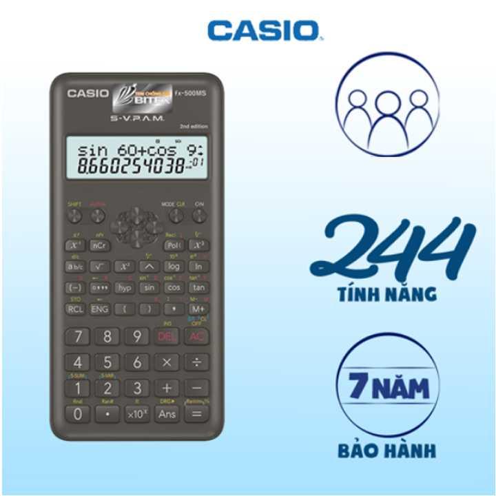 Máy Tính Học Sinh Casio FX500 MS - Ảnh 1