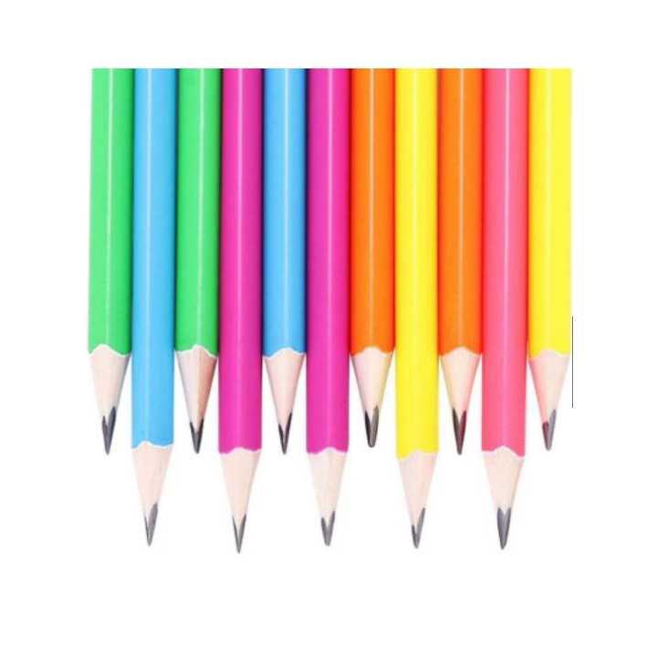 Bút chì đen thân gỗ nhiều màu sunwood 5832 (12 Cây) - Ảnh 2