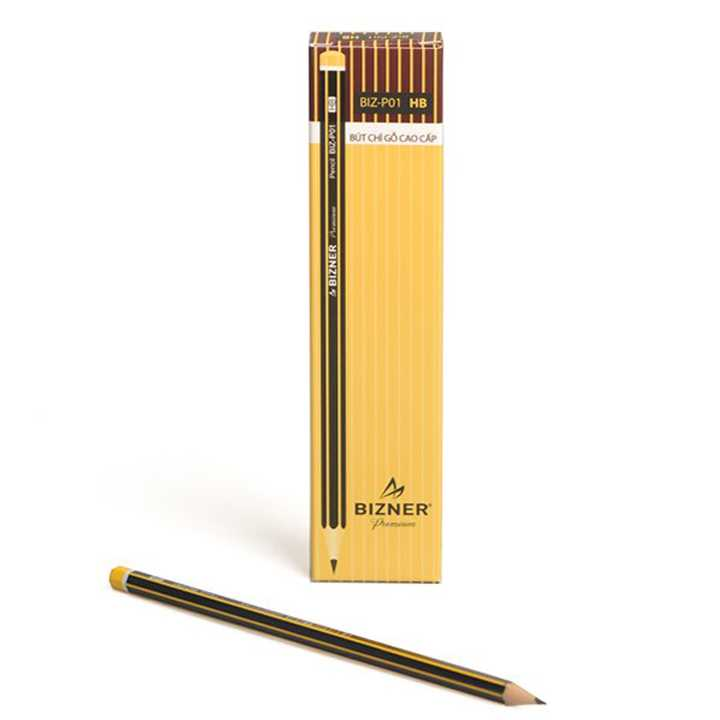 Bút Chì Gỗ Bizner BIZ-P01 (HB-Hộp 10 Chiếc)