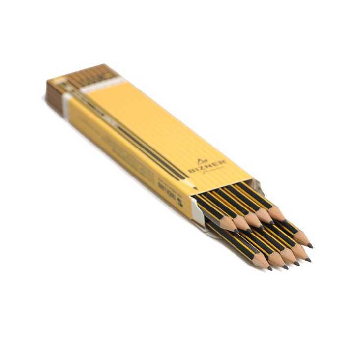 Bút Chì Gỗ Bizner BIZ-P01 (HB-Hộp 10 Chiếc) - Ảnh 2