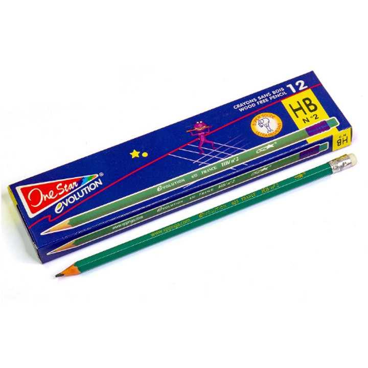 Bút chì pháp Conte 2B,HB có tẩy Hộp 12 chiếc