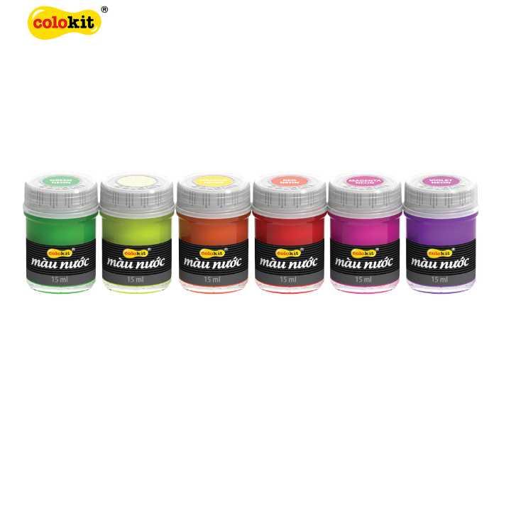 Bộ 6 màu nước Neon Colokit WACO-C011 - Ảnh 1