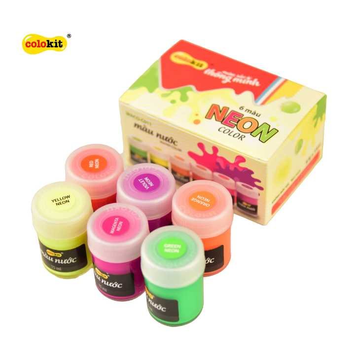 Bộ 6 màu nước Neon Colokit WACO-C011