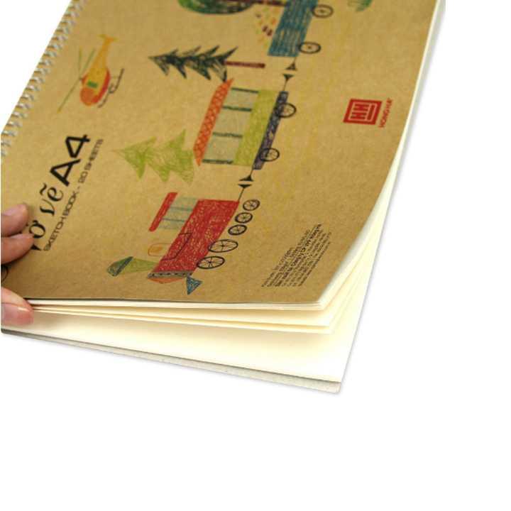 Vở vẽ lò xo Green A4 - 4947 - Ảnh 1