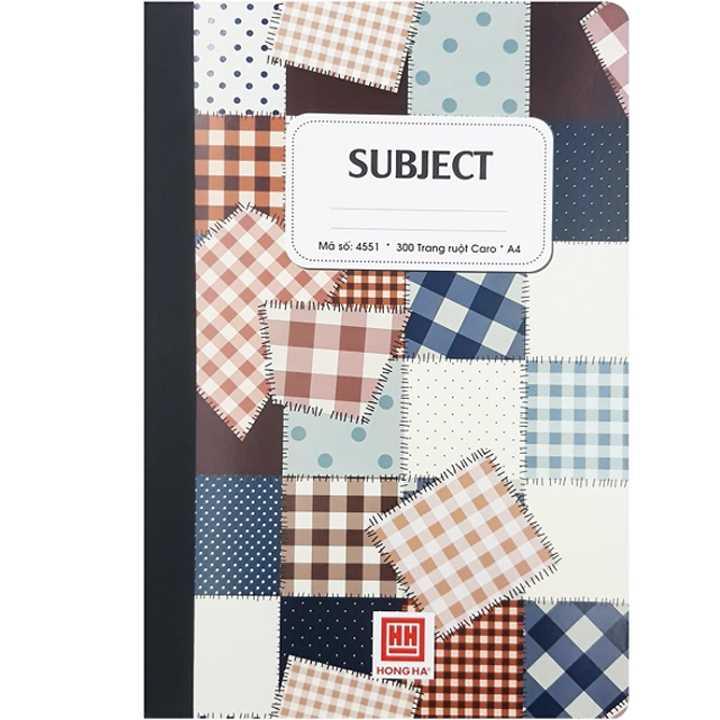Sổ Subject Caro A4 - 300 Trang - Hồng Hà 4551