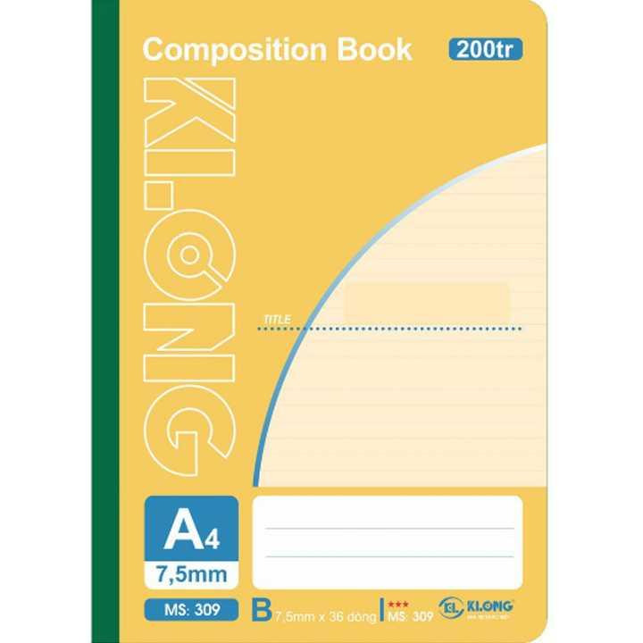 Sổ may dán gáy Klong A4 - 200 trang; Ms 309 - Ảnh 1