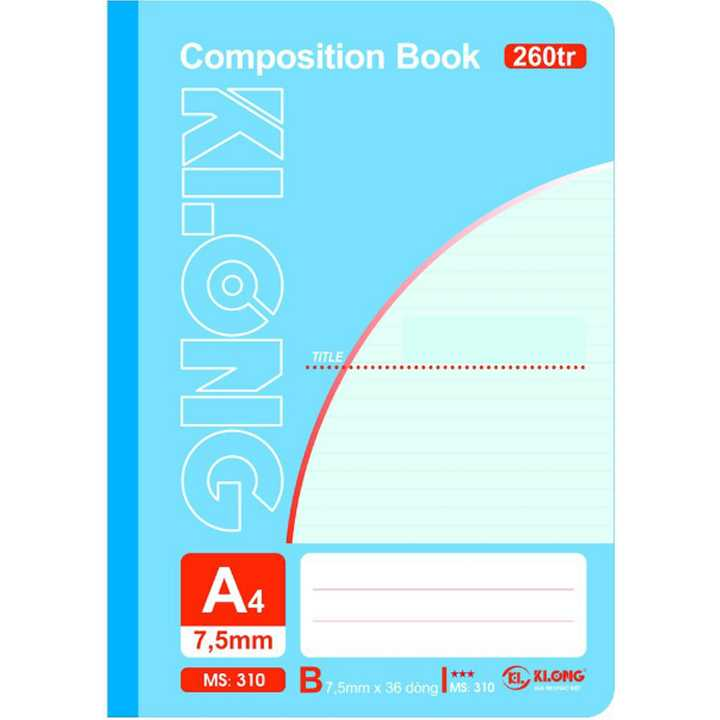 Sổ may dán gáy A4 KLong - 260 trang; Ms 310