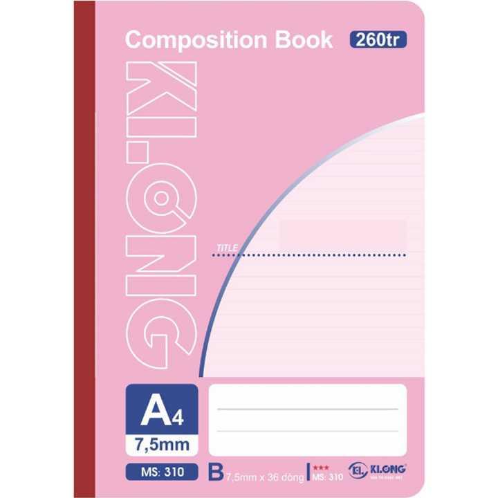 Sổ may dán gáy A4 KLong - 260 trang; Ms 310 - Ảnh 1