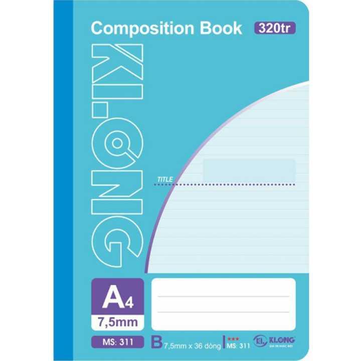 Sổ may dán gáy Klong A4 - 320 trang; Ms 311