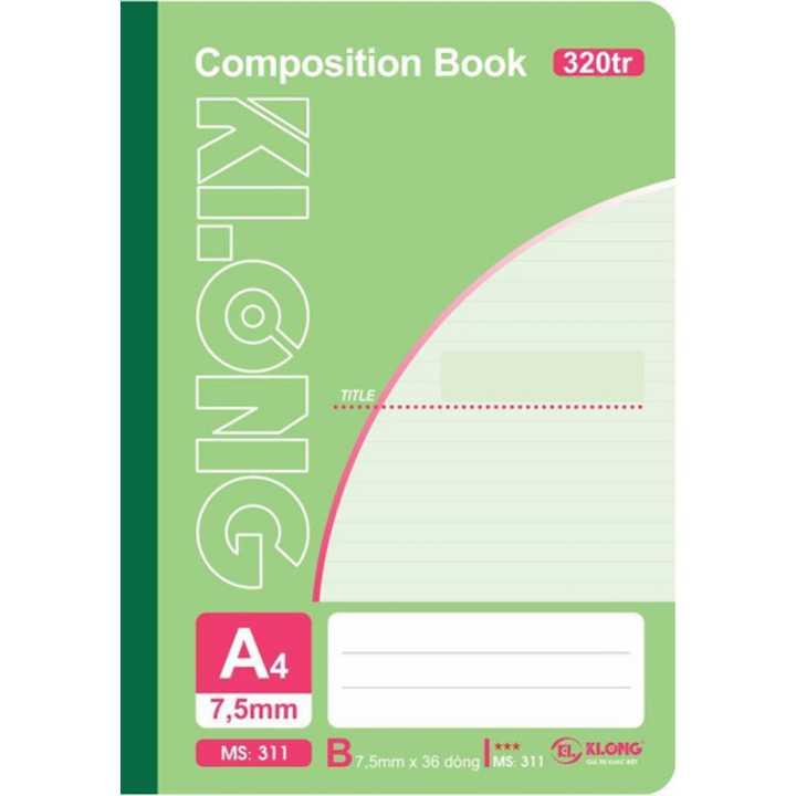 Sổ may dán gáy Klong A4 - 320 trang; Ms 311 - Ảnh 1