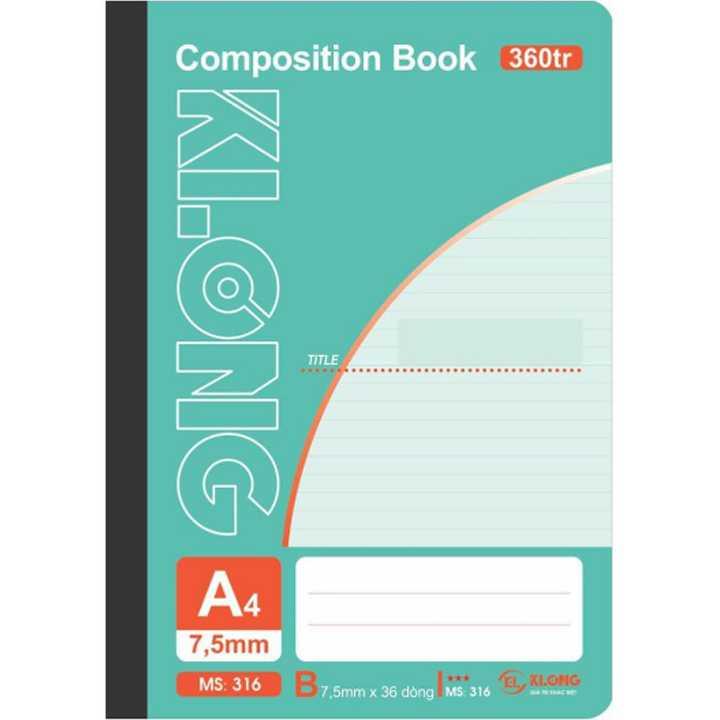 Sổ may dán gáy Klong A4 - 360 trang; Ms 316