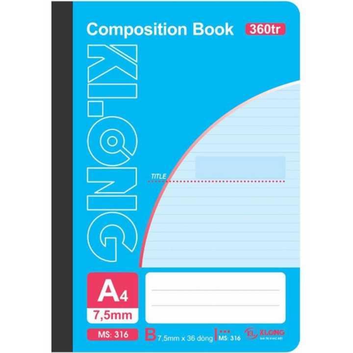 Sổ may dán gáy Klong A4 - 360 trang; Ms 316 - Ảnh 1