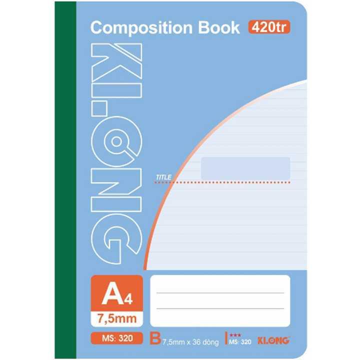 Sổ may dán gáy Klong A4 - 420 trang; Ms 320 - Ảnh 1