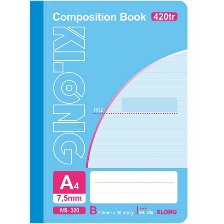 Sổ may dán gáy Klong A4 - 420 trang; Ms 320