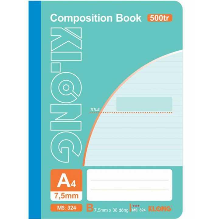 Sổ may dán gáy Klong A4 - 500 trang; Ms 324 - Ảnh 1