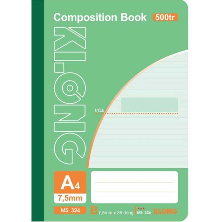 Sổ may dán gáy Klong A4 - 500 trang; Ms 324