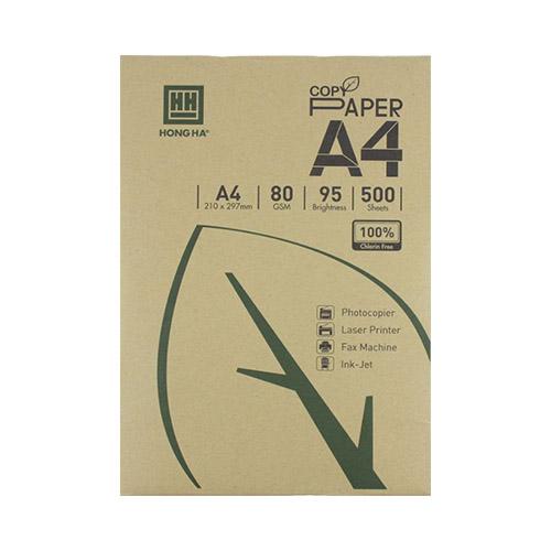 Giấy in Hồng Hà Copy Paper 80gms 4950 ( Hộp 5 Ream )
