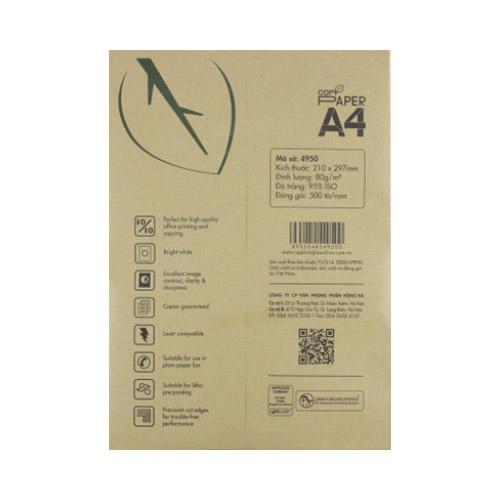Giấy in Hồng Hà Copy Paper 80gms 4950 ( Hộp 5 Ream ) - Ảnh 2
