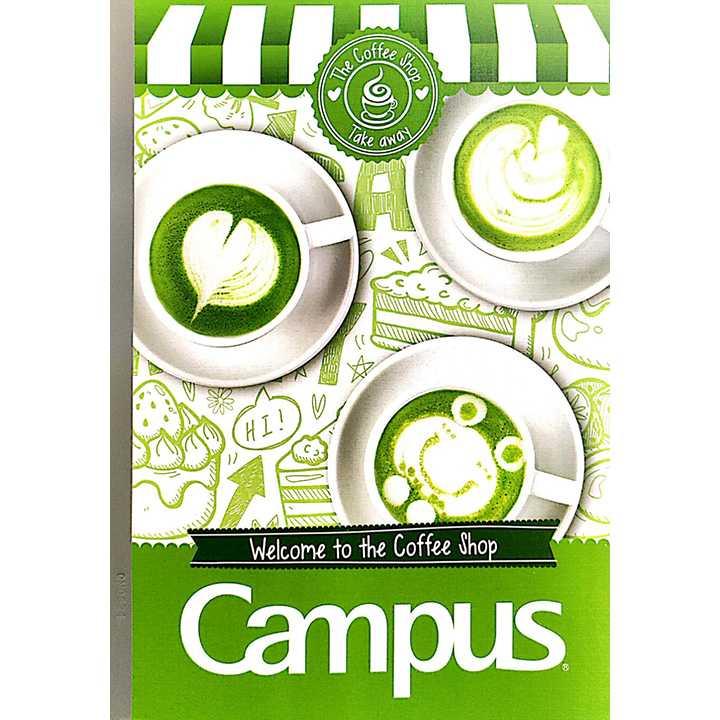 Vở Kẻ Ngang Campus 200 Trang Có Chấm Coffee Shop