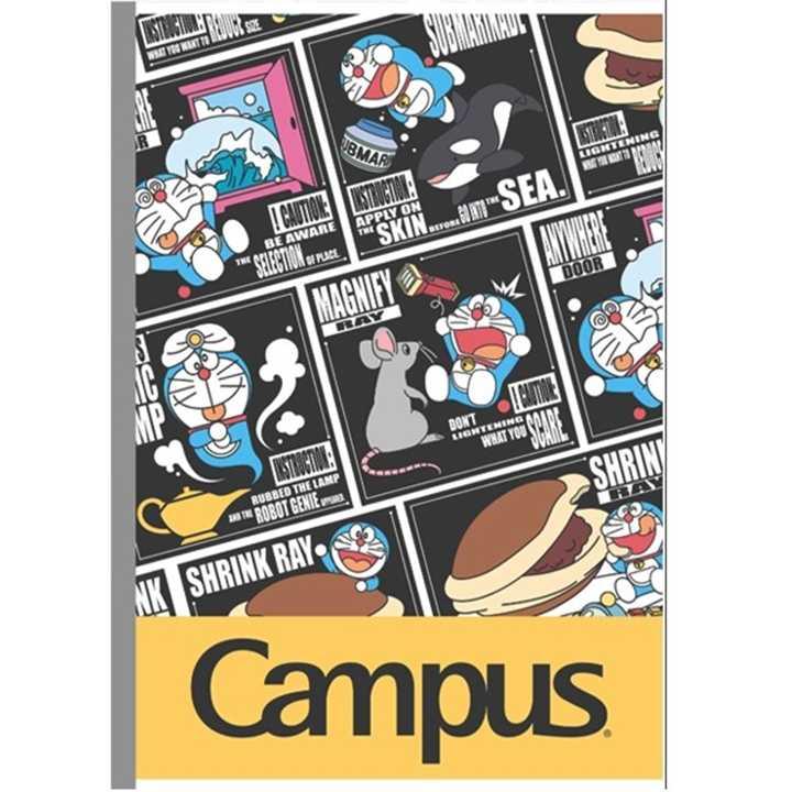 Vở Kẻ Ngang Campus 80 Trang Có Chấm Doraemon Smile - Ảnh 1