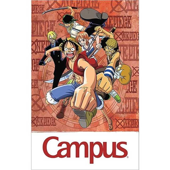 Vở Kẻ Ngang Campus 80 Trang Có Chấm One Piece