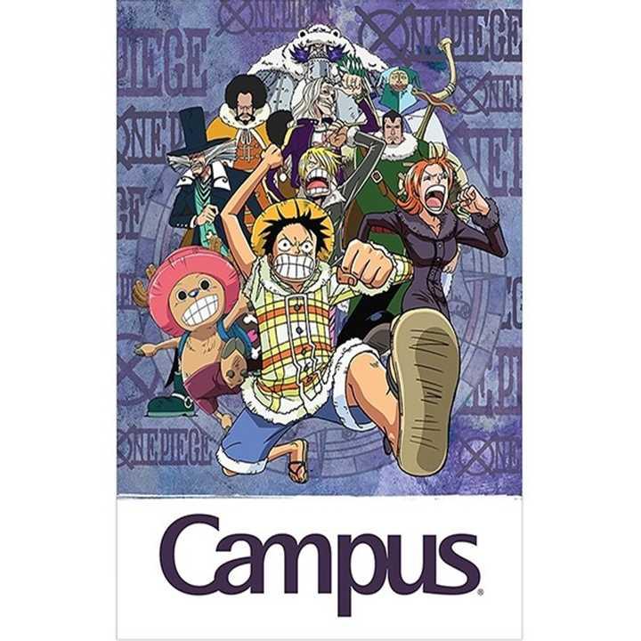 Vở Kẻ Ngang Campus 80 Trang Có Chấm One Piece - Ảnh 1