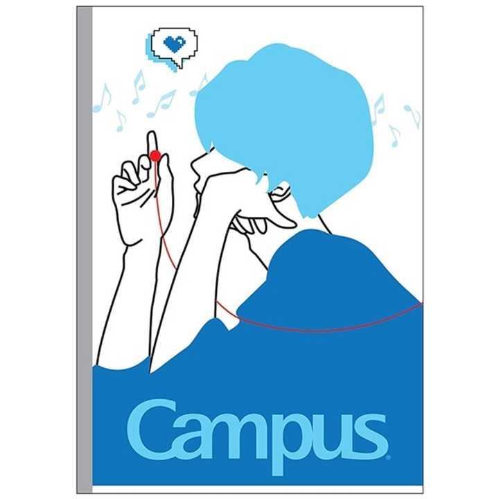 Vở Kẻ Ngang Campus 120 Trang Có Chấm Couple - Ảnh 2