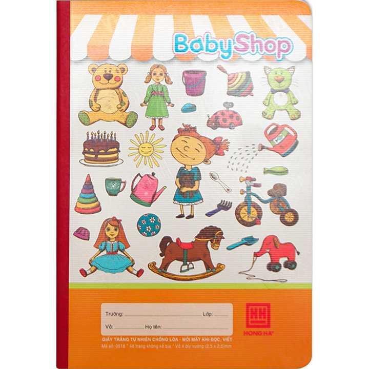 Vở 4 Ô ly 48 trang School Baby Shop 0518 - Ảnh 2