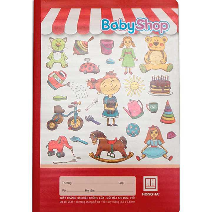 Vở 4 Ô ly 48 trang School Baby Shop 0518 - Ảnh 3