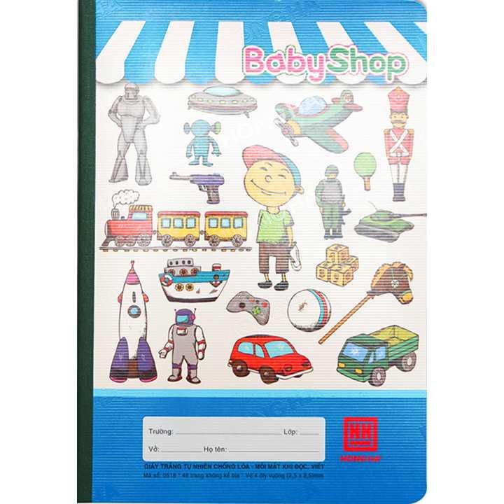 Vở 4 Ô ly 48 trang School Baby Shop 0518
