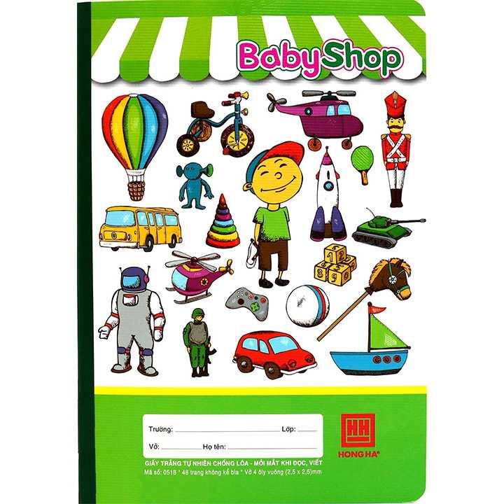 Vở 4 Ô ly 48 trang School Baby Shop 0518 - Ảnh 4