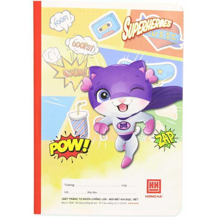 Vở 4 Ô Ly 80 Trang School Super Heros 0549 - Ảnh 3