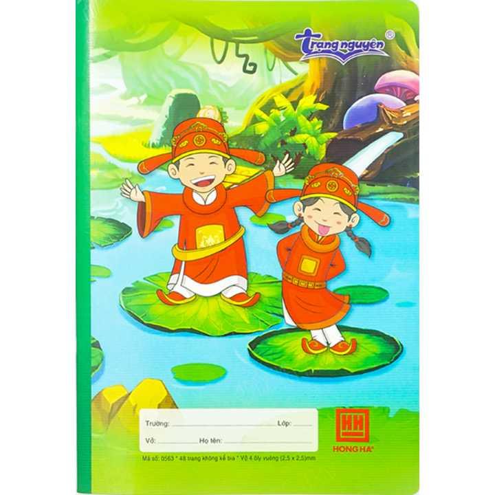 Vở 4 Ô ly 48 trang School Trạng nguyên 0563